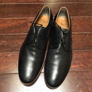 Aldo Black Leather Plain-Toe Oxford Dress Shoe